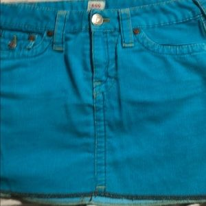 True Religion Turquoise Mini Skirt